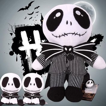 "The Nightmare Before Christmas Jack Skeleton Plush Toys Stuffed Dolls Gift Halloween Euip 2pcs/lot 8""/20cm"
