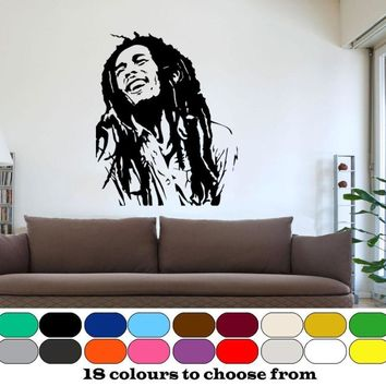 3d Poster Classic BOB MARLEY Wall Graphic Vinyl Mural Sticker Cool Hiphop Home Decor Boy's Bedroom Wall Decoration Vinilos D291