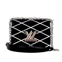 Louis Vuitton Black & White Epi Leather Twist Malletage Cross Body Bag