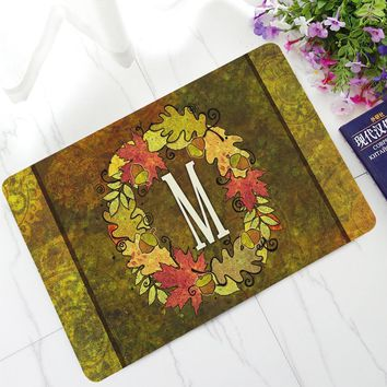 Autumn Fall welcome door mat doormat English Letters Printed Rubber Floor Mats Coffee Table Carpet Non-slip Entrance s Water Proof Kitchen Rugs Bathroom Mats AT_76_7