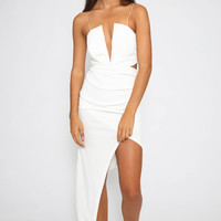 Jewel Eye Dress - White