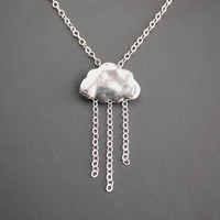 Silver Cloud Necklace.