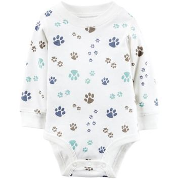 Carter's Baby Boys Single Bodysuit Ivory - Walmart.com