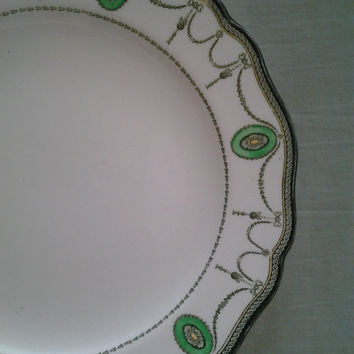 6 Royal Doulton 8.5 inch salad bread dessert Plates Countess 1908 For Crafts Mosaic Jewelry Vintage Antique China