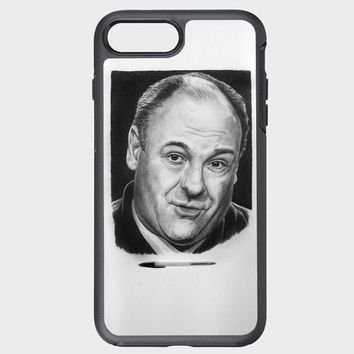 Custom iPhone Case james gandolfini pencil art