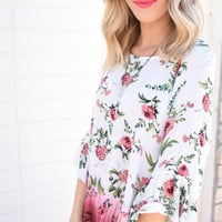 Ombre Floral Top