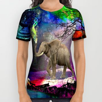 Fantasy forest All Over Print Shirt by Haroulita