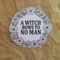 Witch Wreath Sticker