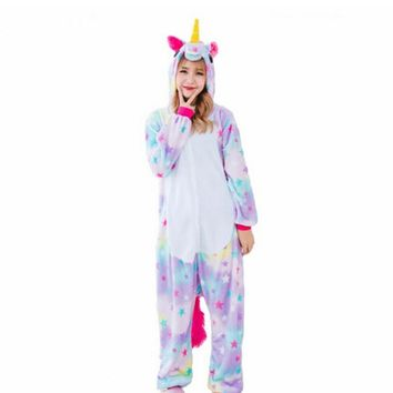 Stitch Unicorn Pajamas Adult Hoodie Onesuit Sweater