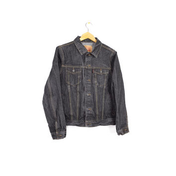 LEVIS black denim trucker jacket