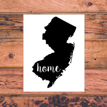 New Jersey Home Decal | New Jersey Decal | Homestate Decals | Love Sticker | Love Decal  | Car Decal | Car Stickers | 122