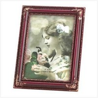Gifts & Decor Fine Polished Ornate Rosewood Color Picture Frame, 5 by 7-Inch