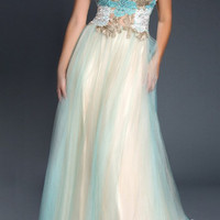 Black Label Couture 10 Two Toned Tulle Ballgown Prom Dress