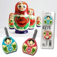 Matryoshka Key Covers Novelty Russian Doll Cute Organize