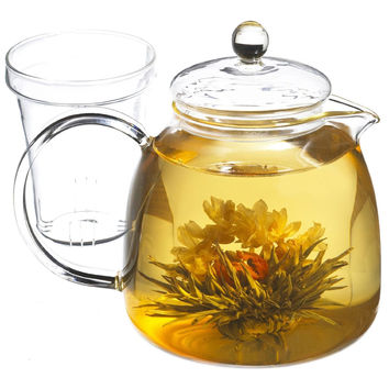 Stovetop Glass Kettle Teapot with Glass Tea Infuser