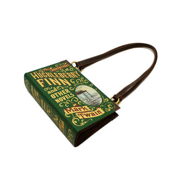 Mark Twain Bookpurse - Decadence Book Purse Clutch Handbag - Huckleberry Finn and other novels