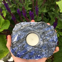 2.4lb Sodalite Candle Holder
