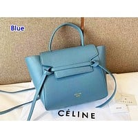 Celone sells shopping casual shoulder bag fashionable hand color Blue