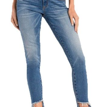 ICIKAB3 Miss Me Anything But Average Mid-Rise Ankle Skinny Jeans