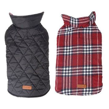 Reversible British Style Dog Jacket- Water Repellent!