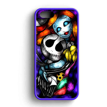 Jack And Sally Glass Water Color iPhone Case For iPhone SE, 5s, 5c, 4