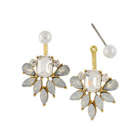 GRACEFUL GEM EAR JACKETS - White Opal