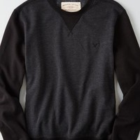 AEO Men's Fleece Vintage Sweatshirt (Bold Black)
