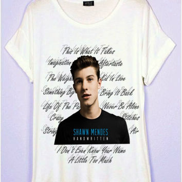 "Shawn Mendes ""Handwritten"" Album T-Shirt"