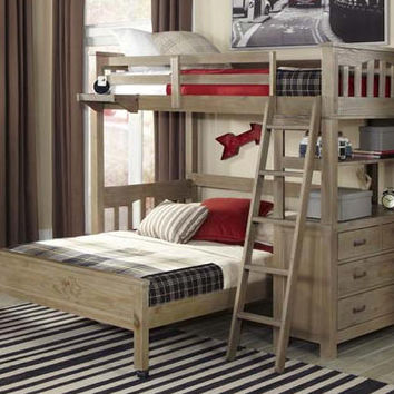 Crosspointe Twin Size L Shape Bunk Beds