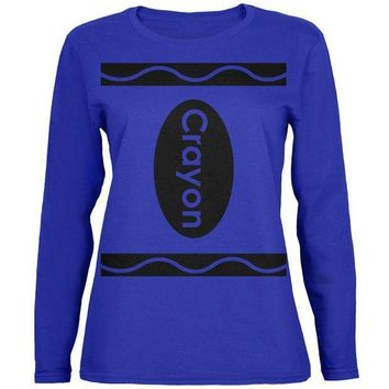 PEAPGQ9 Halloween Crayon Costume Womens Long Sleeve T Shirt