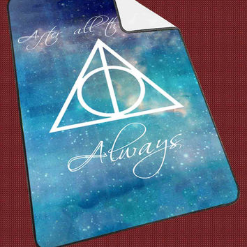 "Harry Potter Deathly Hallows d998787b-66ce-4136-88f8-8d47c05f4191 Kids Blanket Game Blanket All Character Popular Game, Cute and Awesome Blanket for your bedding, Blanket fleece ""NP"""