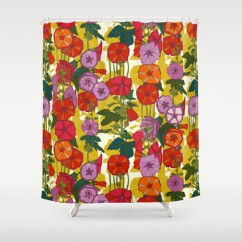 holly hocky Shower Curtain by Sharon Turner