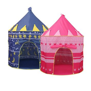 Toys Tent Kids Crawling Portable Foldable Tipi Princess Prince Castle Indoor Outdoor Toys Pool for Ocean Ball Play Game House