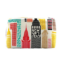 New York City Skyline Travel Cosmetic Bag Zipper Pouch: Party Favor, Birthday Gift, Graduation Gift, NYU, Pencil Pouch, Handmade