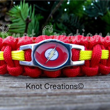 Flash Paracord Bracelet Custom Handmade-Wrist Measurement REQUIRED Please Read Listing Details