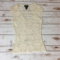 Pre-owned Express Cream Top Shirt (Size XS)