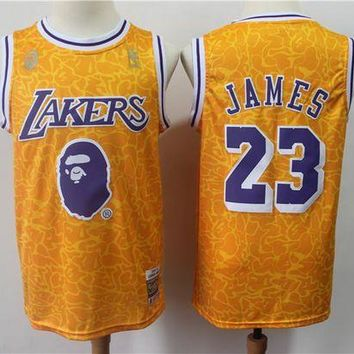 PEAP A Bathing Ape x Lakers 23 James Swingman Jersey