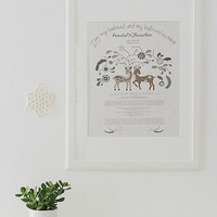 Ketubah Customized Archival Wedding Vows Keepsake I am my beloved FREE SHIPPING