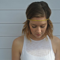 Gold Braid Tribal Boho Hippie Style Bohemian Women's Headband