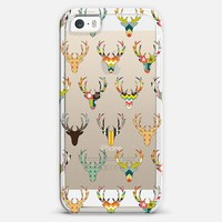 retro deer head transparent iPhone 5s case by Sharon Turner | Casetify