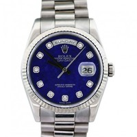 Rolex Day-Date 118239 White Gold Lapis Diamond Dial Men's Watch