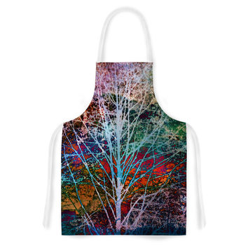 "Sylvia Cook ""Trees in the Night"" Artistic Apron"