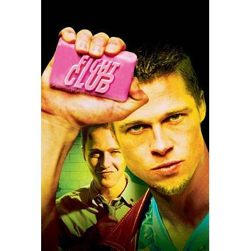 Fight Club Movie 11inx17in poster Soap Art