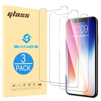 3 PACK iPhone X Screen Protector Tempered Glass 3D Case Friendly