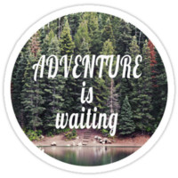 'Adventure is Waiting' Sticker by gracereads