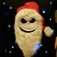 Ugly LIGHT UP CHRISTMAS SWEATER - Jack Skellington - Nightmare Before Christmas