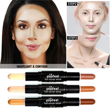 New Highlighter Makeup For Face Base Maquiagem Dermacol Corretivo Facial Concealer Pen Bronzer& Highlighter Contour Stick
