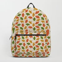 Fall ginkgo leaves pattern Backpack by savousepate