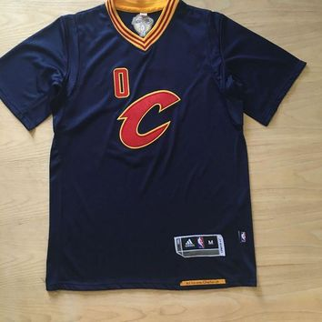 KUYOU Cleveland Cavaliers Kevin Love Dark Blue with Champion chapter 100% Authentic Jersey