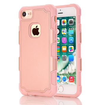 For iPhone 7 Case Hybrid Dual Layer Armor Defender Full Body Protective Shock- Absorption Case for iPhone7
